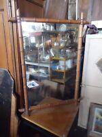 Miroir bois effet bambou années 1950/ 60 vintage