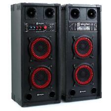 PRO SET ACTIF ENCEINTES SONO PA SKYTEC SPB-26 SUBWOOFER 2X15CM USB SD MP3 600W