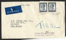 S.RHODESIA, VICTORY ISSUE KGV1 COVER TO USA, TAXED, WITH CACHET, SCARCE