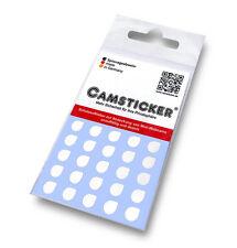 25 Camsticker - weiß glänzend Webcam Aufkleber Sticker Schutzaufkleber