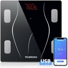 Body Fat Scale,YOUNGDO Bluetooth Digital Bathroom Weighing Scale,USB Charging,23