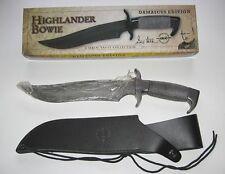 Gil Hibben Highlander Bowie damascos Edition gh627d nuevo/en el embalaje original-cuchillo de coleccionista
