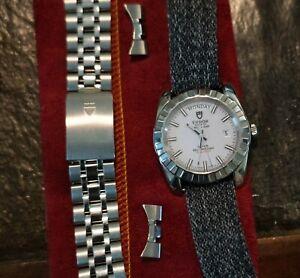 Tudor Classic Day-Date 41mm Stainless Steel Men's Watch White Jubilee Polar