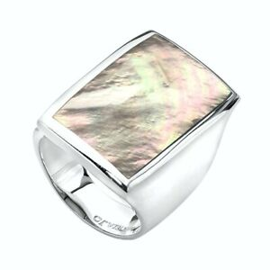 NAJO Lunar Lights Mother of Pearl Sterling Silver Ring, RRP $229 *NEW IN BOX* #1