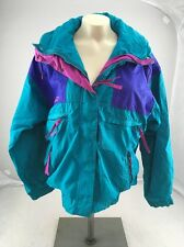 Columbia Sportswear Company Womens Jacket M Teal/Purple Vamoose Radial Sleeve