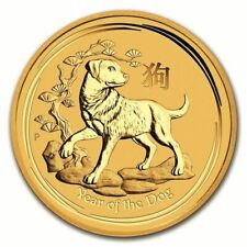 Australia - 15 Dollars 2018 Year of the Dog- 1/10 oz - Or Gold Perth Mint