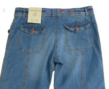 New Womens Blue NEXT Crop Jeans Size 10 Regular Leg 30 LABEL FAULT