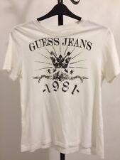 White Guess T Shirt Size Small/medium Mens Short Sleeve