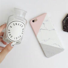 Granite Marble Contrast Color PC Hard Phone Cover Case For iPhone 6 7 Plus 5S SE