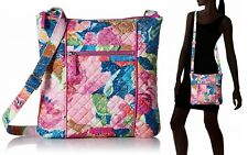Vera Bradley Iconic Hipster Cotton Crossbody Bag in Superbloom
