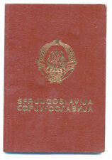 Expired YUGOSLAVIA  travel document with over 40 border crossing handstamps