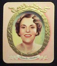 Jarmila Novotna 1934 Garbaty Film Star Series 1 Embossed Cigarette Card #65