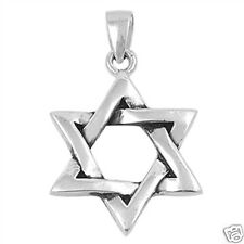 Star of David Pendant Sterling Silver 925 Religious Symbols Jewelry Gift 22 mm