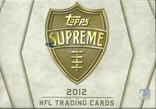 2012 Topps Supreme Factory Sealed Football Hobby Box  Andrew Luck RC ??