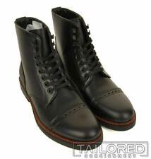 NWB - COACH Bleecker Cap Toe Black Leather High Ankle Combat Boots G1547 - 11.5