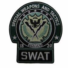"Batman SWAT Logo 4"" Tall Embroidered Iron on Patch"