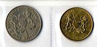 2 Monedas Kenya coin años variados