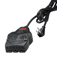 Fellowes 99091 8 Outlet Surge + Phone Protection 6FT Cord w up to 5 AC Adapters