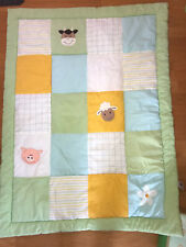 Dormia Süße Baby Krabbeldecke Krabbel Decke 100x130 Patchwork Grün Top Erhalten