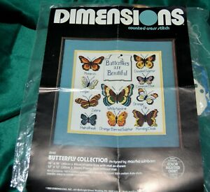 Dimensions counted cross stitch BUTTERFLY  STARTED