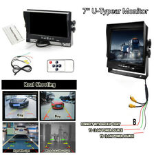 7'' HD TFT LCD Car Monitor Rearview Screen W/AV Interface 2 Video Input Cable