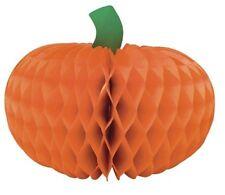 """Halloween Pumpkin 12"""" Honeycomb Centerpiece 1 ct Decor"""