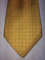"""ROUNDTREE AND YORKE GOLD LABEL MENS TIE 4"""" X 60"""" GOLD AND YELLOW"""