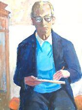 Impressionista Karl Adser 1912-1995 Autoritratto con Tavolozza Del Pittore IN