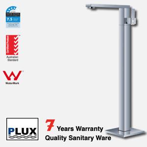 PLUX Luxury Floor Mounted Square Chrome Bath Mixer - Tap - Mixer - Faucet