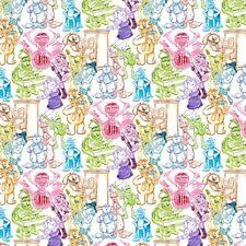 Sesame Street Rainbow Sketch Muppet Character Drawings Cotton Fabric Fat Quarter