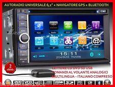 "AUTORADIO 6,2"" Touch Navigatore Dvd Mp3 Bluetooth Alfa 159 Giulietta 500L Croma"