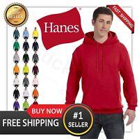 Hanes Men's EcoSmart Pullover Fleece Solid Long Sleeve Hoodie w/ Pocket P170