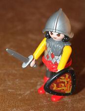 Playmobil personnage soldat moyen âge médiéval chevalier épée bouclier ref gg