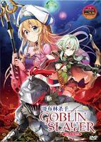 DVD Anime Goblin Slayer Complete Series (1-12 End) Uncensored, English Audio Dub