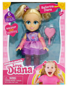 "LOVE DIANA Mashups BALLERINA  6"" Doll Ballet Tutu Bows Heart Brush 2021 READ!!"