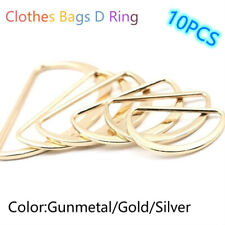 10Pcs Garment Accessories Metal D Ring Zinc Alloy Bags D Ring