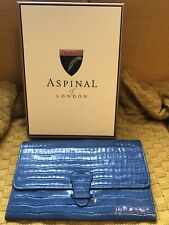 Aspinal of London Travel Wallet. Brand New in Teal Leather