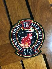 "(25) LOT VINTAGE NBA MIAMI HEAT SEW ON PATCH 3 3/8"" X 3 7/8"""
