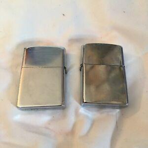 VTG Kalan Chrome Lighters Set Of 2 Novelty Flip Top Pocket lighter
