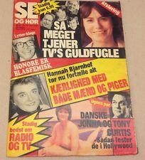 """Tony Curtis and Lover Jonna Denmark Nude Vtg Danish Magazine 1981 """"Se og Hoer"""""""
