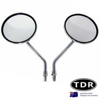 chrome universal motorcycle round 10mm rear view mirror Harley Suzuki Honda