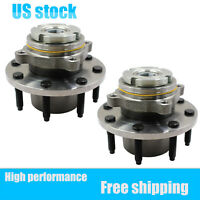 Set(2)  Front Wheel Bearing And Hub For Ford F-250/F-350 Super Duty 1999-2004