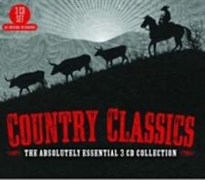 Country Classics The Absolutely Essential 3cd C by Various Artists Music CD