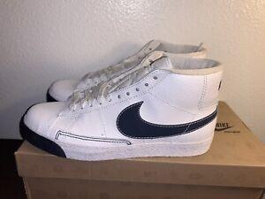 Nike Blazer High 315877-103 Men Size 10.5 White Navy Red DS