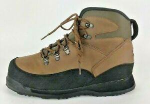 Orvis Hiking Fishing Vibram Sole Slip Resist Cleats Boots Mens Size 9