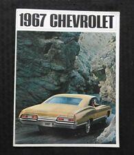 """1967 CHEVROLET IMPALA"" CONVERTIBLE SS HARDTOP WAGON 396 427 BROCHURE CATALOG"