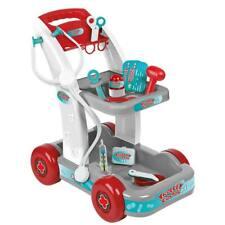 Carrello Trolley Dottore Giocattolo Bambini Stetoscopio e Accessori Gioco Medico
