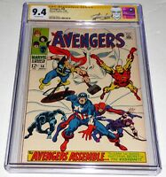 Avengers #58 CGC SS 9.4 Signature Autograph STAN LEE Origin of the Vision Joins
