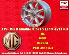 1 Cerchio MG B / GT Minilite 5.5x15 PCD 4x114.3 N.1 Wheel Felge Llanta Jante TUV