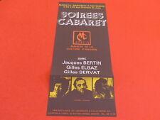 [JEAN-JACK MARTIN Col J.LE BOURHIS] SOIREES CABARET ANGERS 1972 AMCA SERVAT &c..